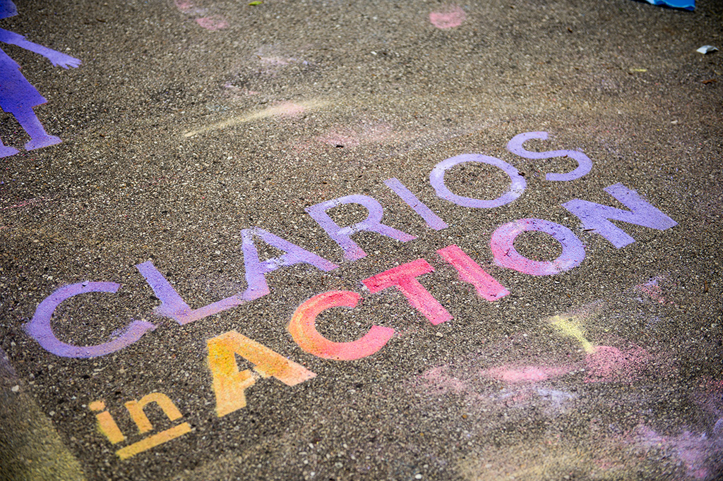 Clarios in Action graphic in chalk